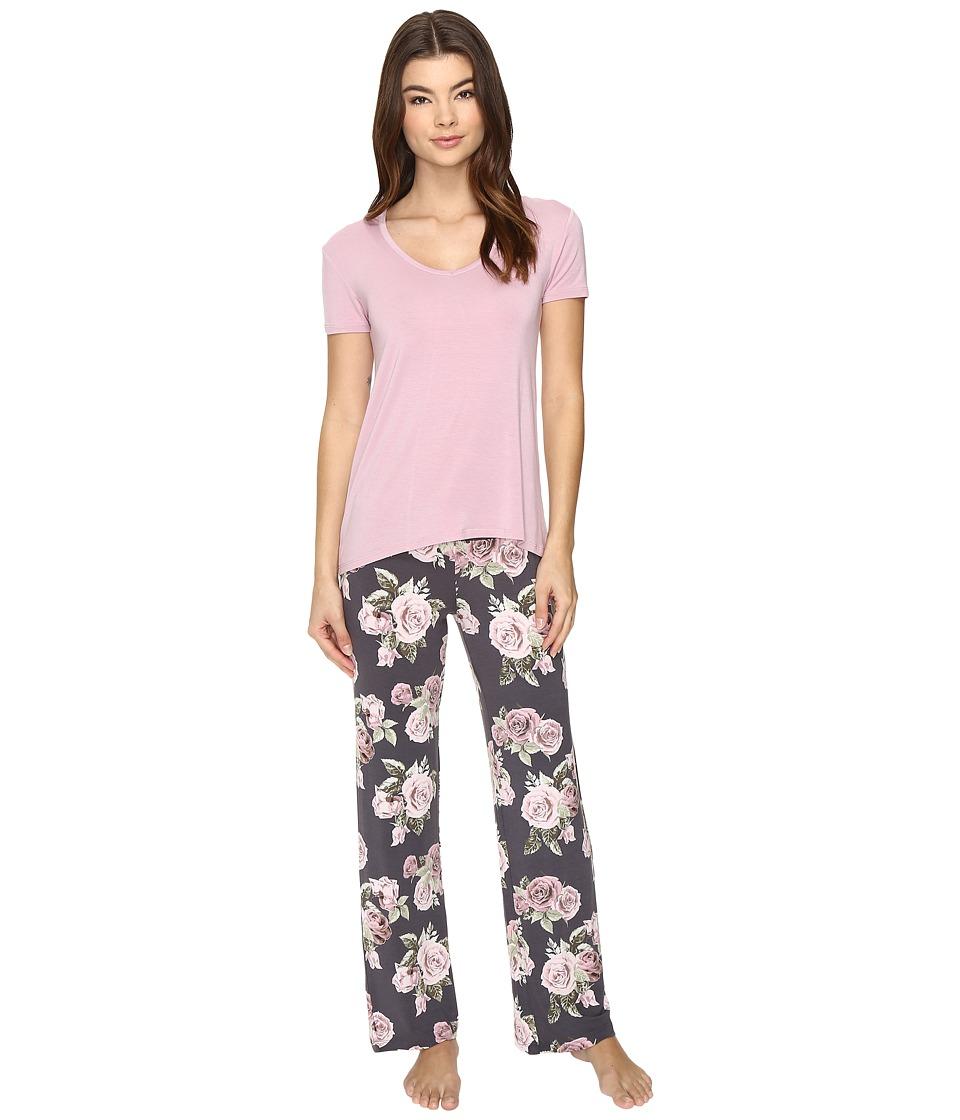 P.J. Salvage - PJ Set Modal (Charcoal) Women's Pajama Sets