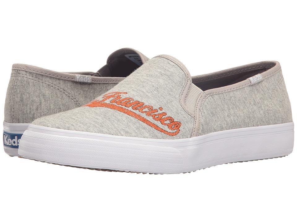 Keds - Double Decker MLB Giants Jersey (Light Gray) Women's Slip on Shoes
