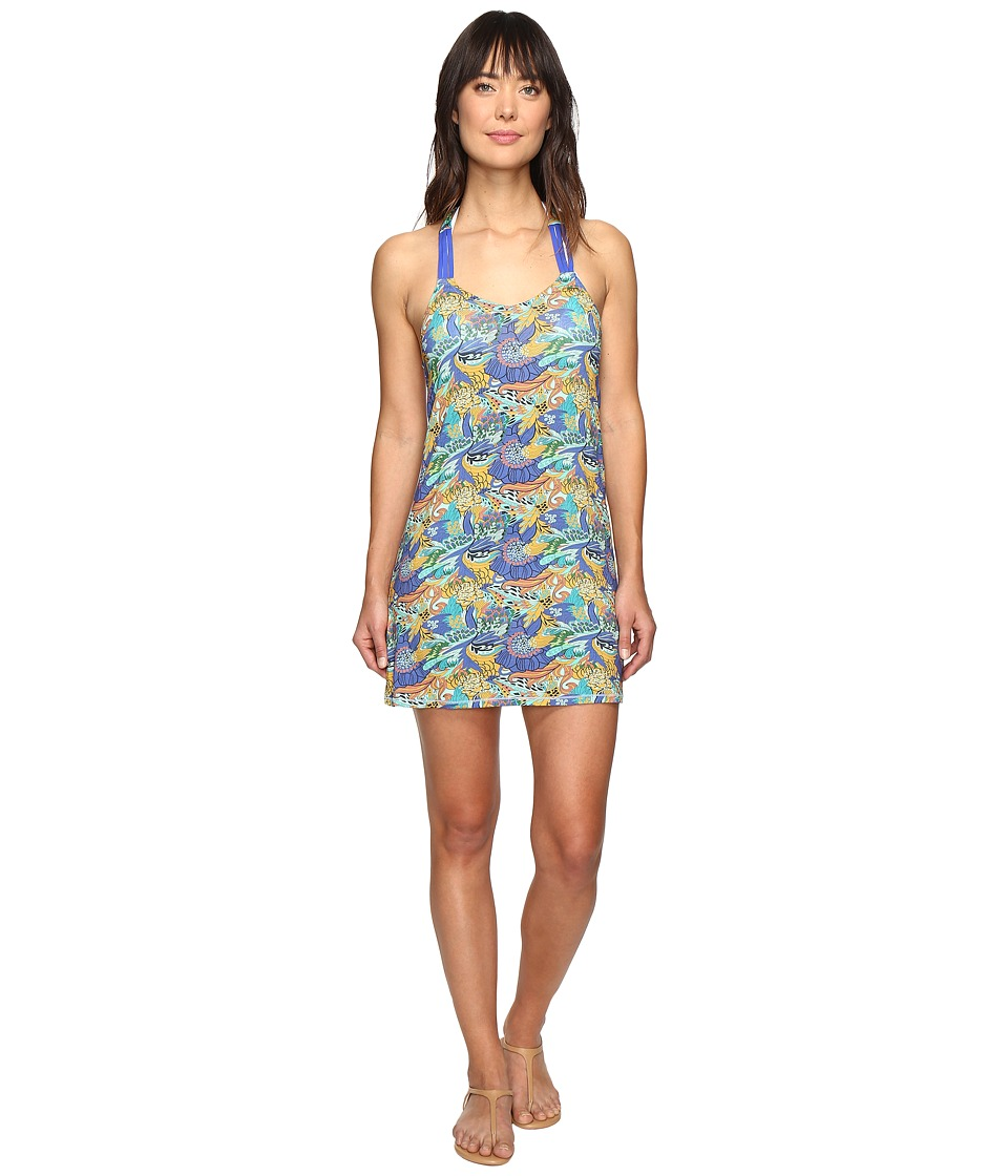Maaji - Bloom-Tastic Dress Cover-Up (Dark Blue) Women's Swimwear