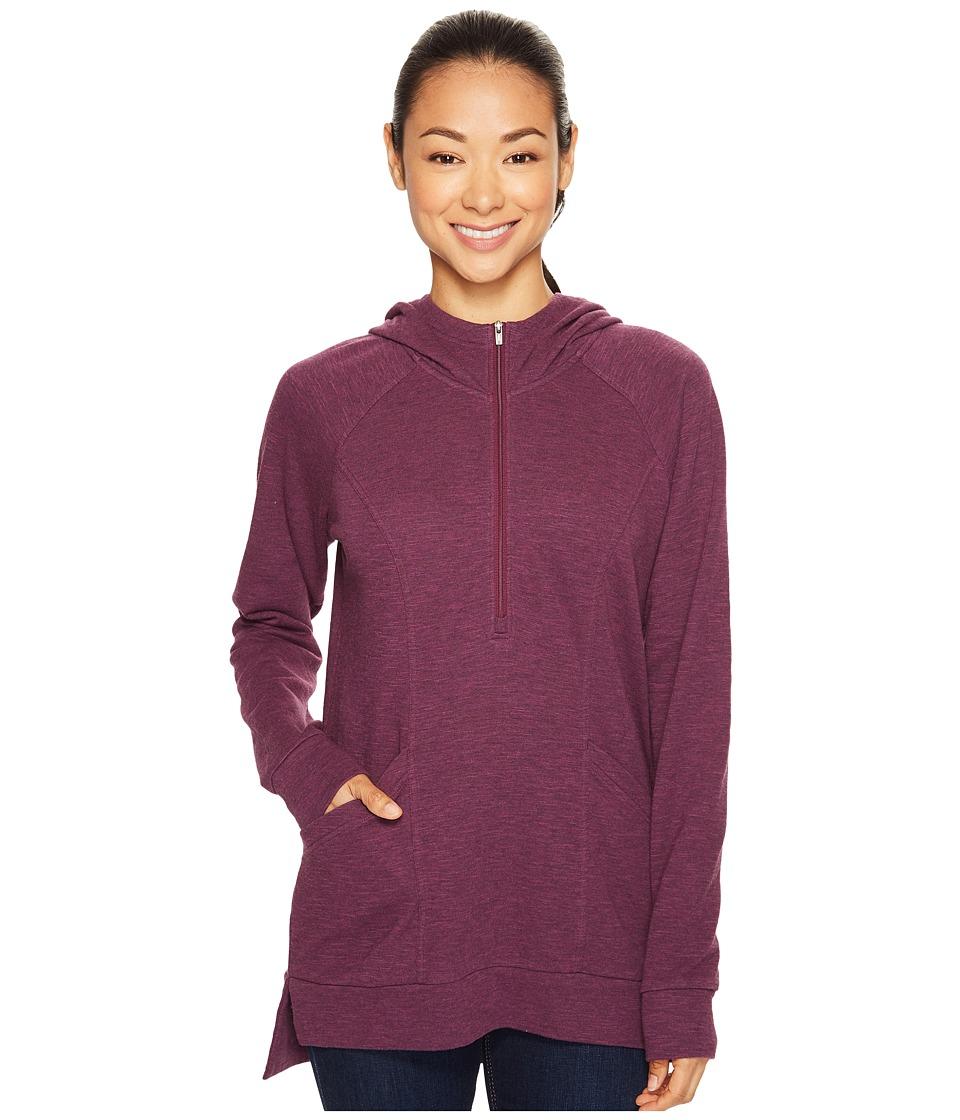 Lucy - OM 1/2 Zip Pullover (Gloxinia Heather) Women's Sweatshirt