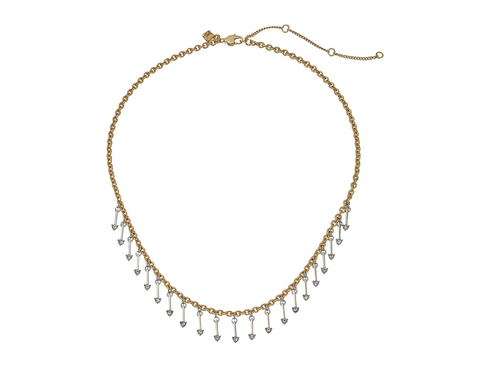 Rebecca Minkoff - Multi Arrow Charm Necklace (Gold/Silver/Crystal) Necklace