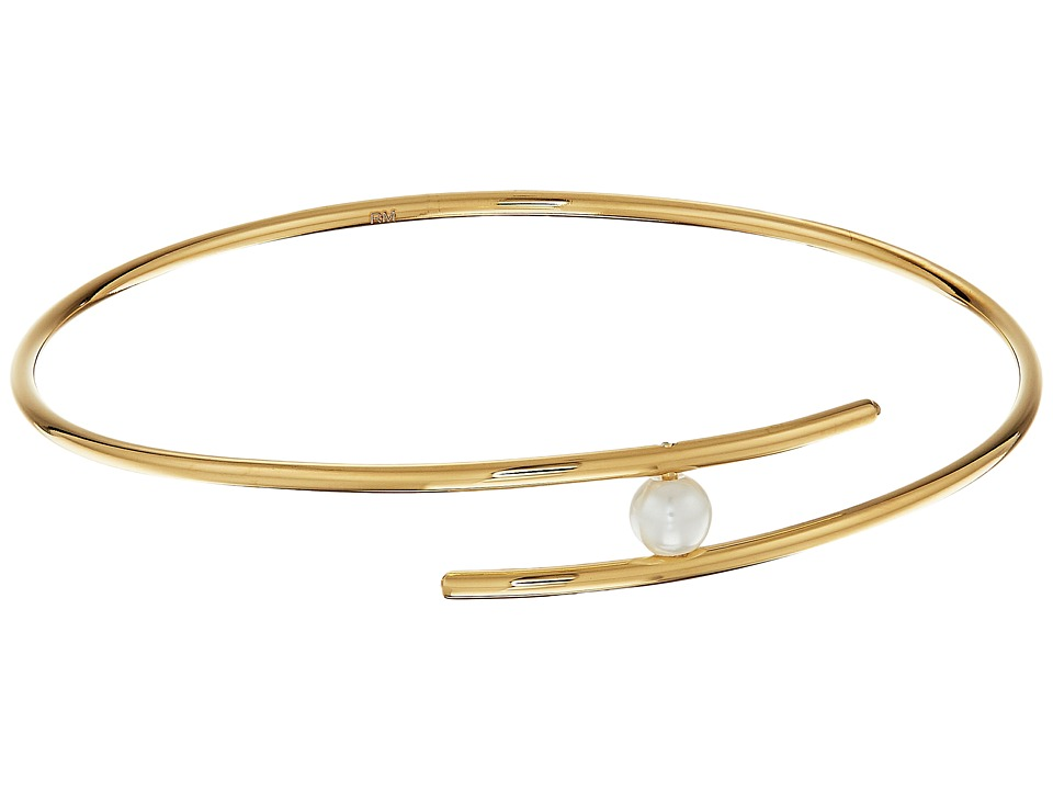 Rebecca Minkoff - Metal Linear Interlock Bracelet (Gold/Pearl) Bracelet