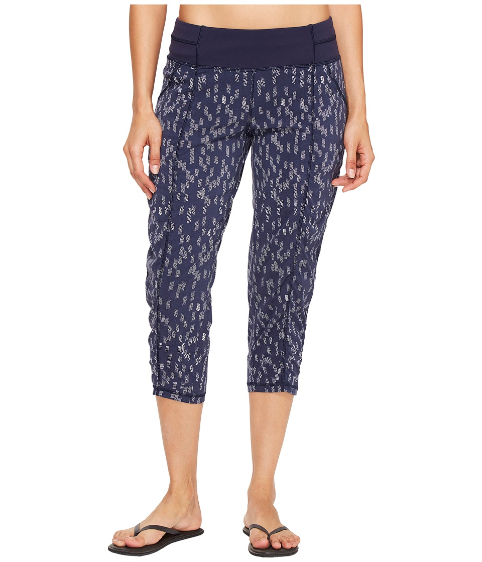 Lucy - Get Going Capri (Lucy Navy/Dove Grey Origami Print) Women's Workout