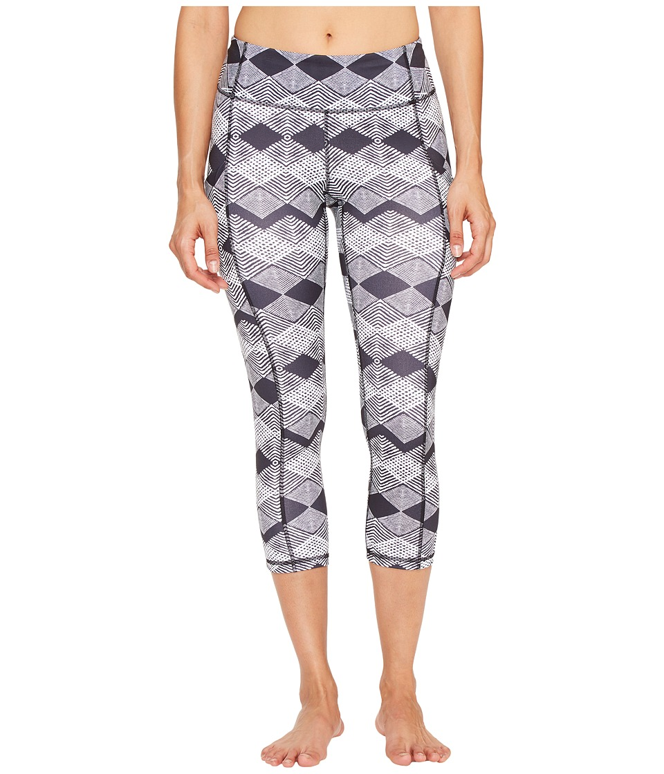 Lucy - Power Train Pocket Capris (Lucy Black Deco Diamd Print) Women's Workout