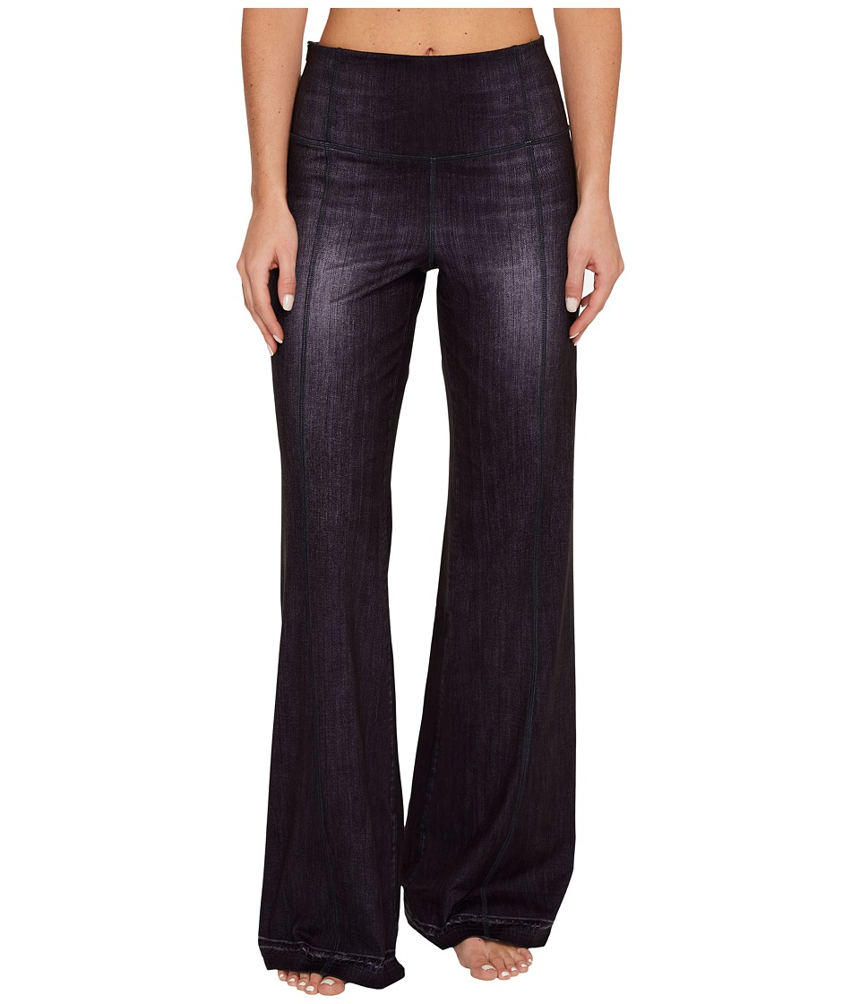 Lucy - Indigo Flare Pants (Black Indigo) Women's Casual Pants