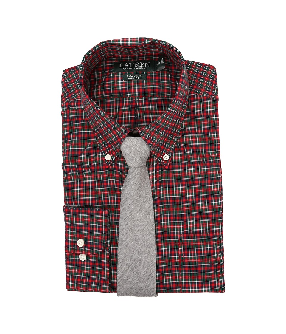 LAUREN Ralph Lauren - Poplin Checks Classic Pocket Dress Shirt (Red/Black/White) Men's Clothing