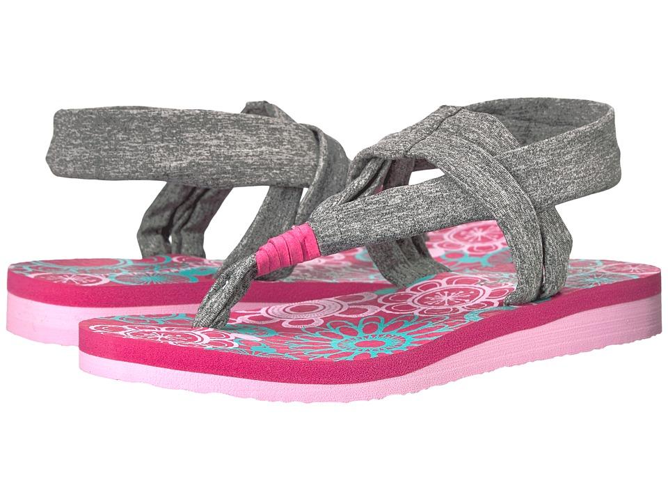 SKECHERS KIDS - Meditation 86758L (Little Kid/Big Kid) (Grey/Muti) Girl's Shoes