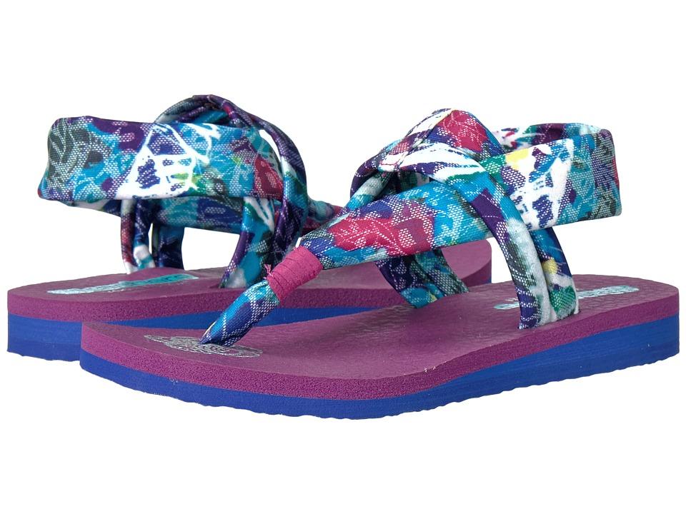 SKECHERS KIDS - Meditation 86775L (Little Kid/Big Kid) (Blue/Purple) Girl's Shoes