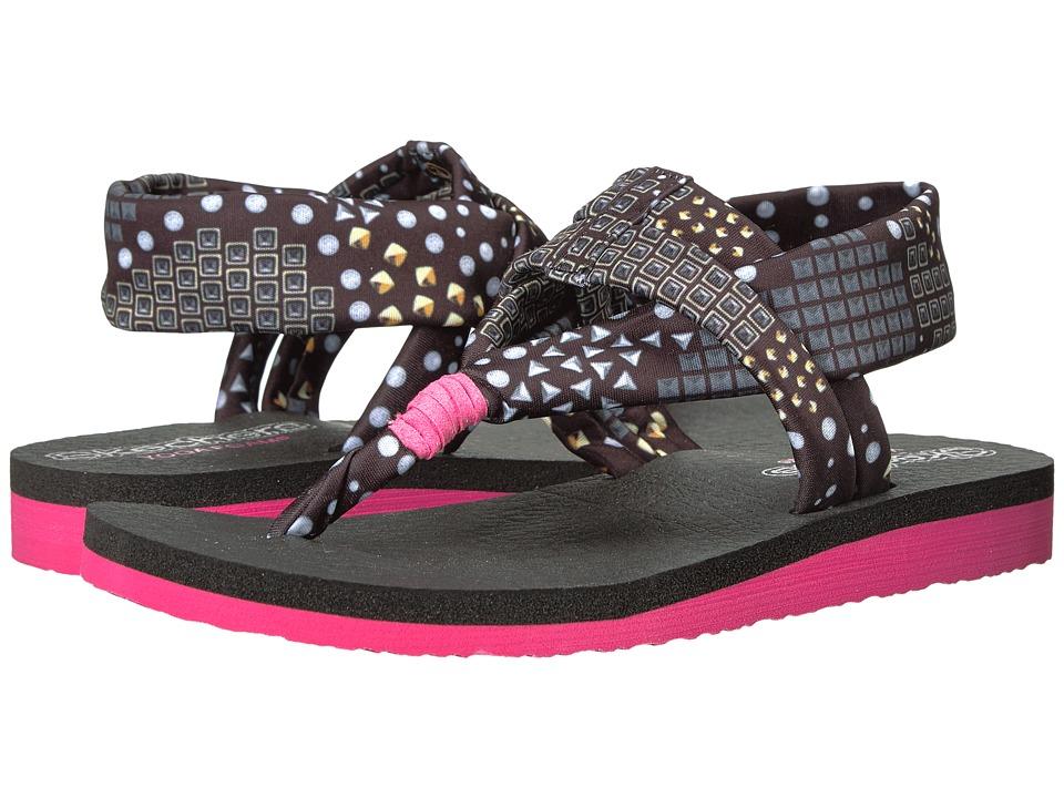 SKECHERS KIDS - Meditation 86760L (Little Kid/Big Kid) (Black/Multi) Girl's Shoes