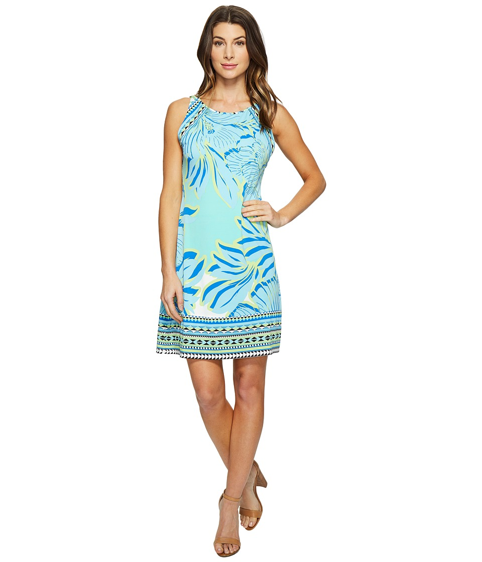 Hale Bob - Hot Topics Microfiber Sleeveless Dress (Turquoise) Women's Dress
