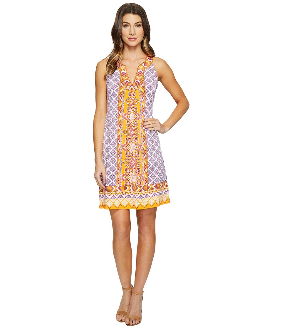 Hale Bob - Cruise Control Microfiber Jersey Sleeveless Dress (Orange) Women's Dress
