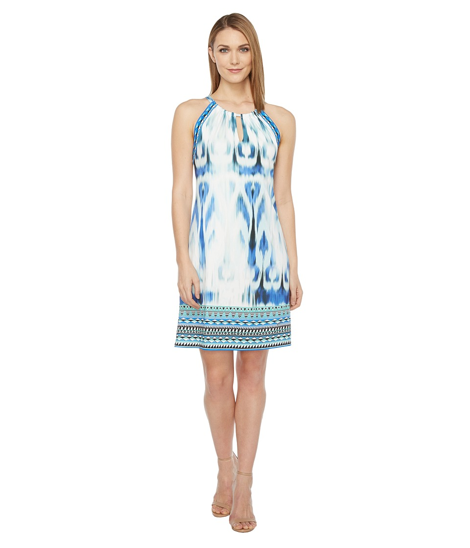Hale Bob Sun Streaked Microfiber Jersey Dress (Blue) Women