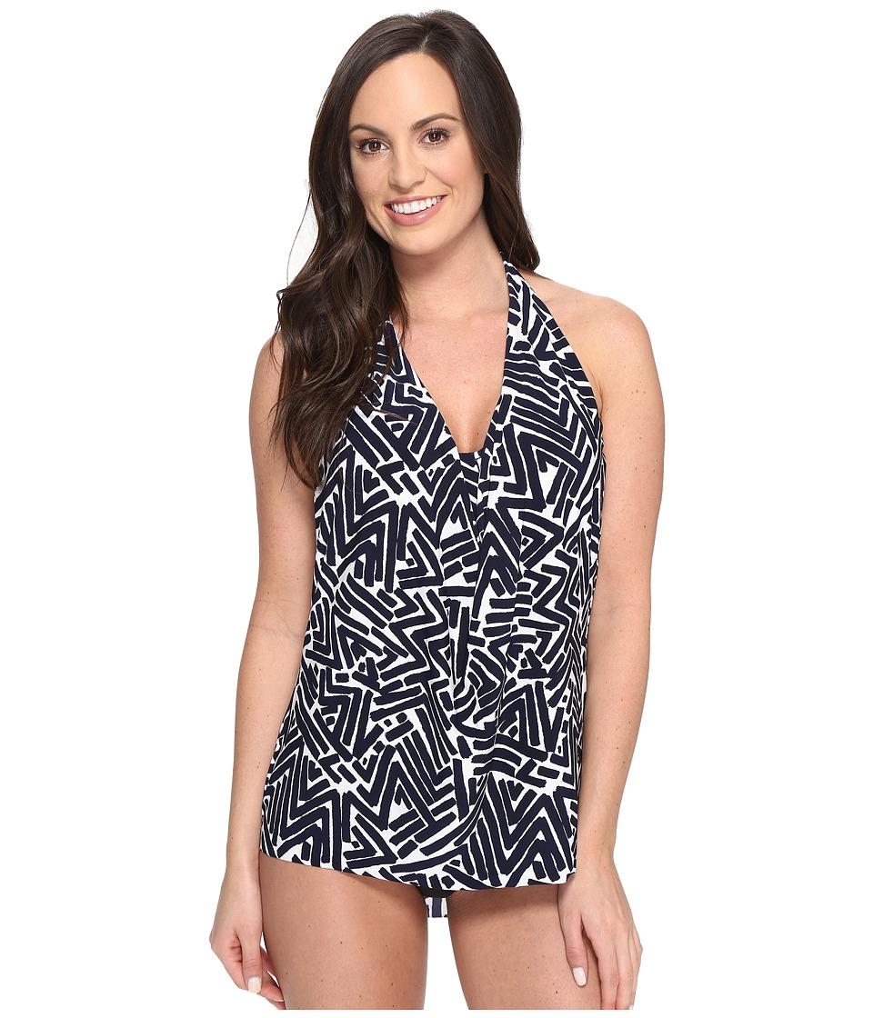 Magicsuit - Tiki Sophie Underwire Tankini Top (Navy) Women's Swimwear