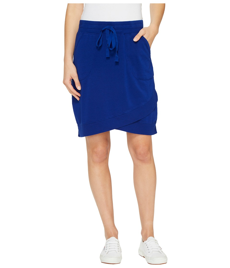 Mod-o-doc - Cotton Modal Spandex French Terry Crossover Hem Pull-On Skirt (Nautical) Women's Skirt