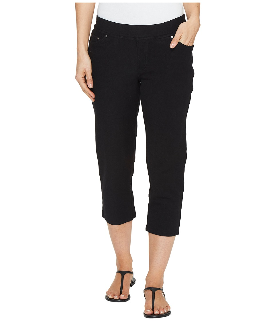 Mod-o-doc Stretch Knit Twill Straight Leg Capris (Black) Women