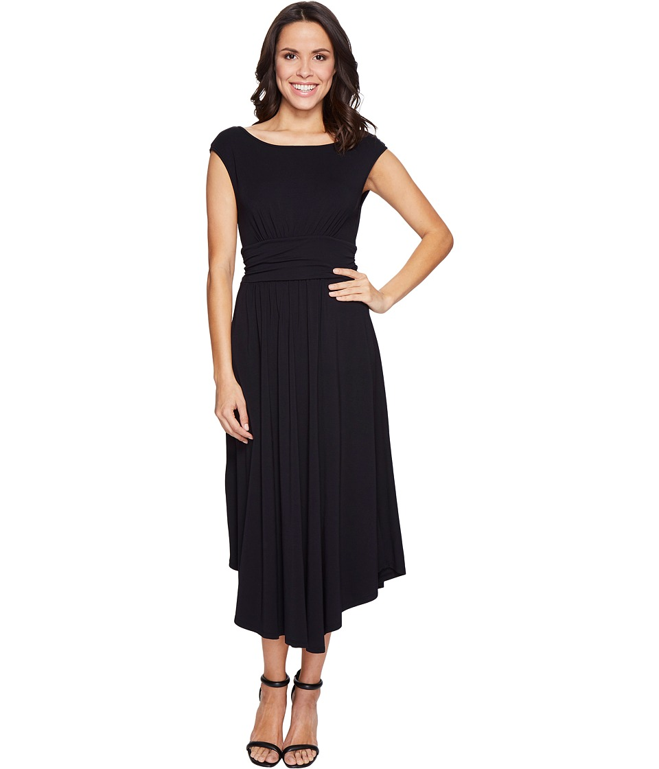Mod-o-doc - Cotton Modal Spandex Jersey Shirred Waist Tank Dress (Black) Women's Dress