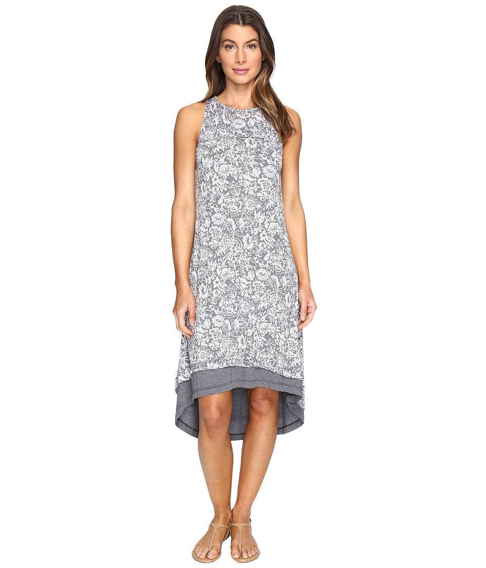 Mod-o-doc Wildflower Burnout Jersey Double Layer Tank Dress (Dark Nickel) Women