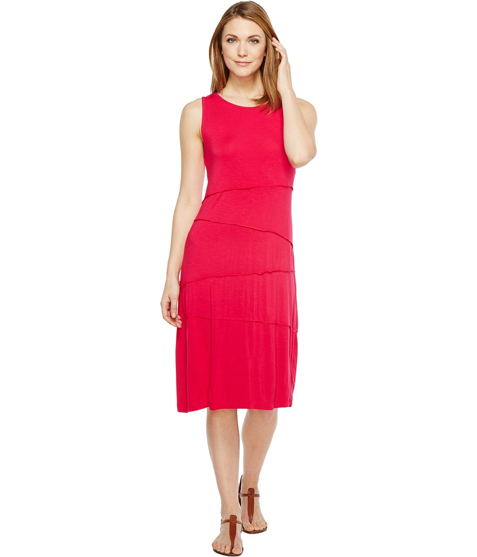 Mod-o-doc - Rayon Spandex Slub Jersey Seamed Swing Tank Dress (Berry Red) Women's Dress