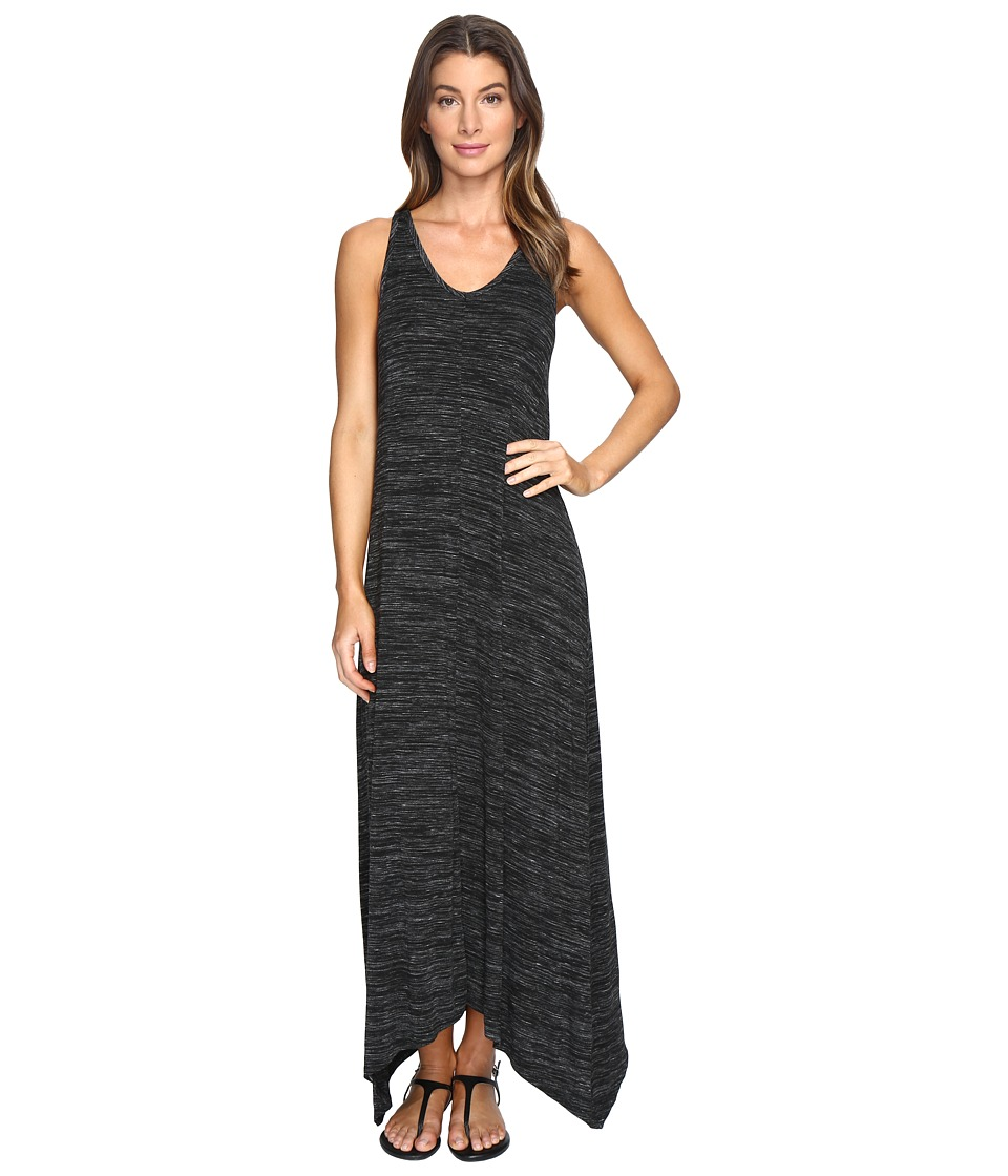 Mod-o-doc - Space Dyed Rayon Spandex Jersey Sleeveless Maxi Dress (Black Heather) Women's Dress