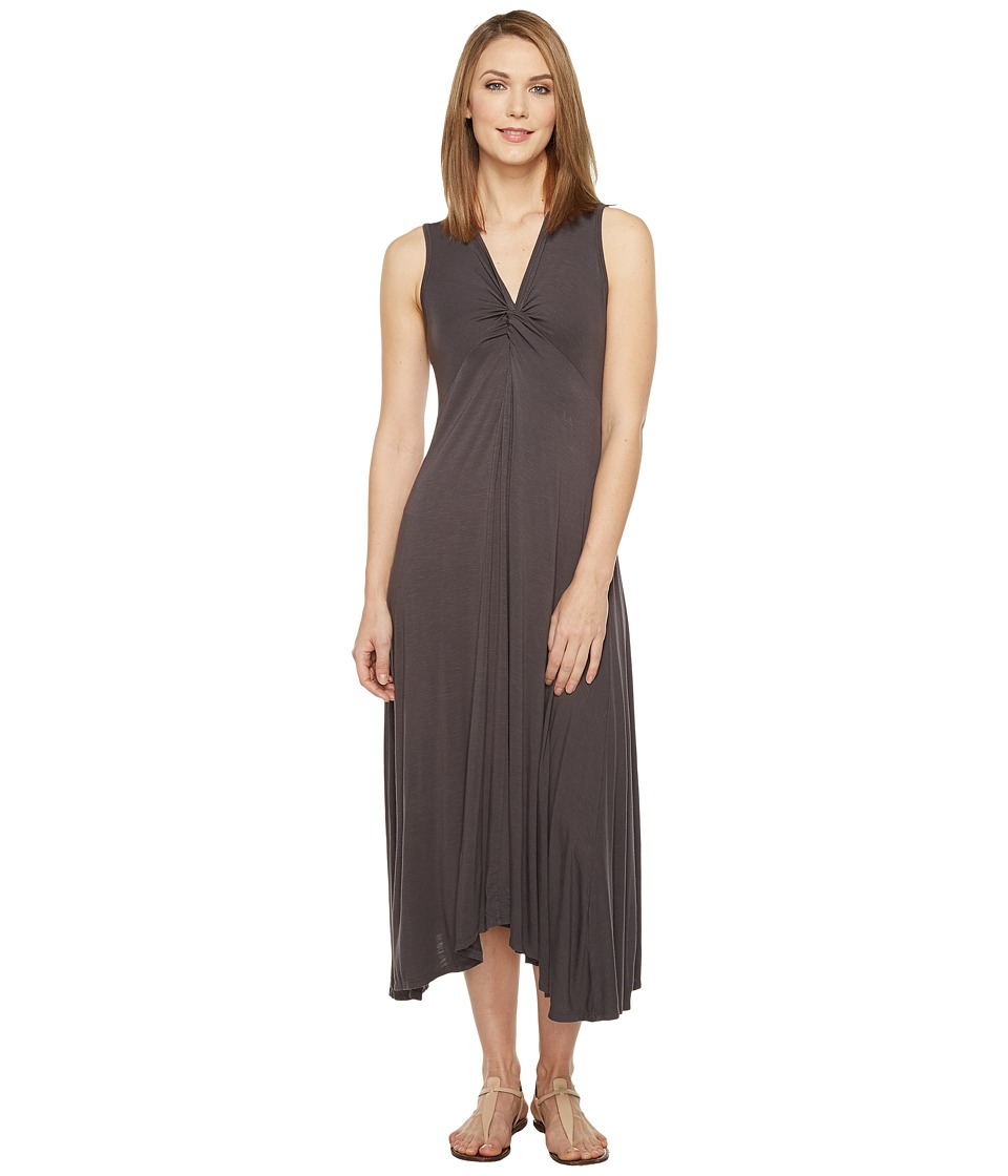 Mod-o-doc - Rayon Spandex Slub Jersey Twist Front Tank Dress (Dark Nickel) Women's Dress