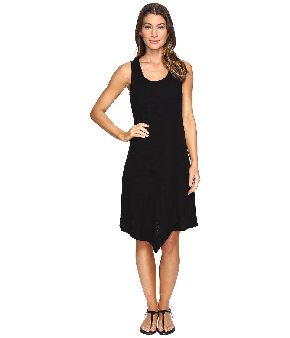 Mod-o-doc Textured Slub Stripe Tank Dress (Black) Women