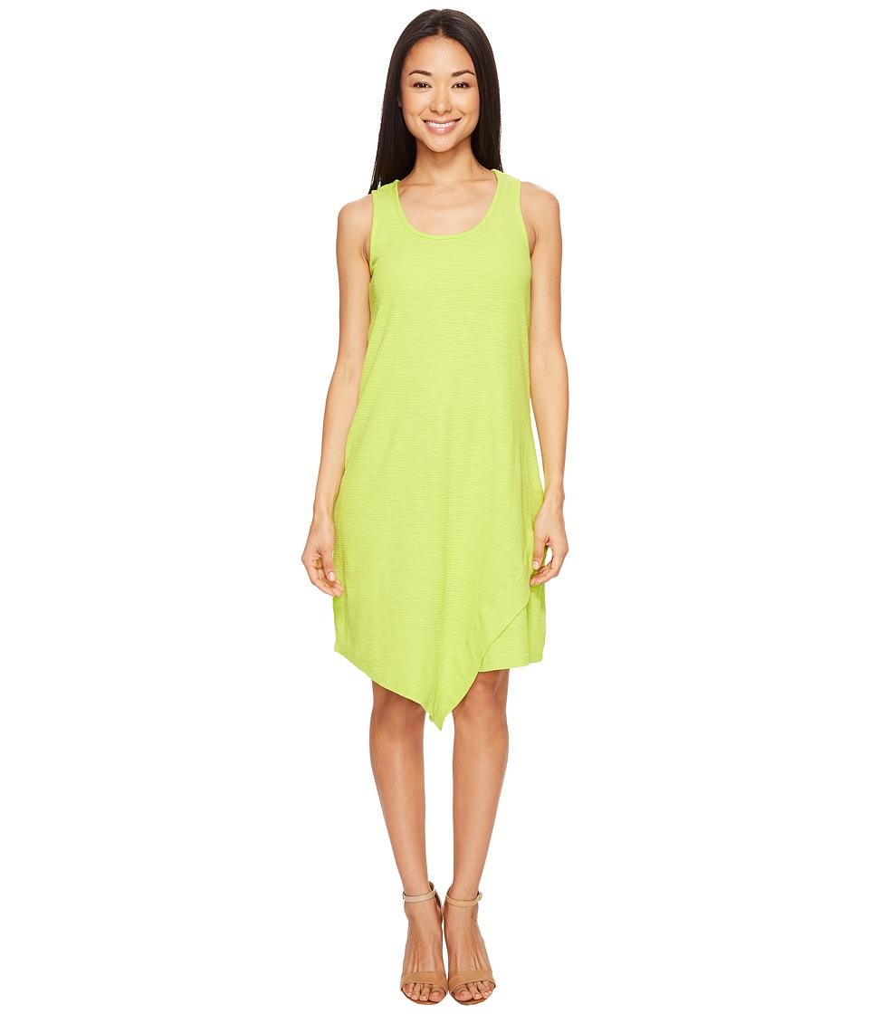 Mod-o-doc - Textured Slub Stripe Tank Dress (Lime) Women's Dress