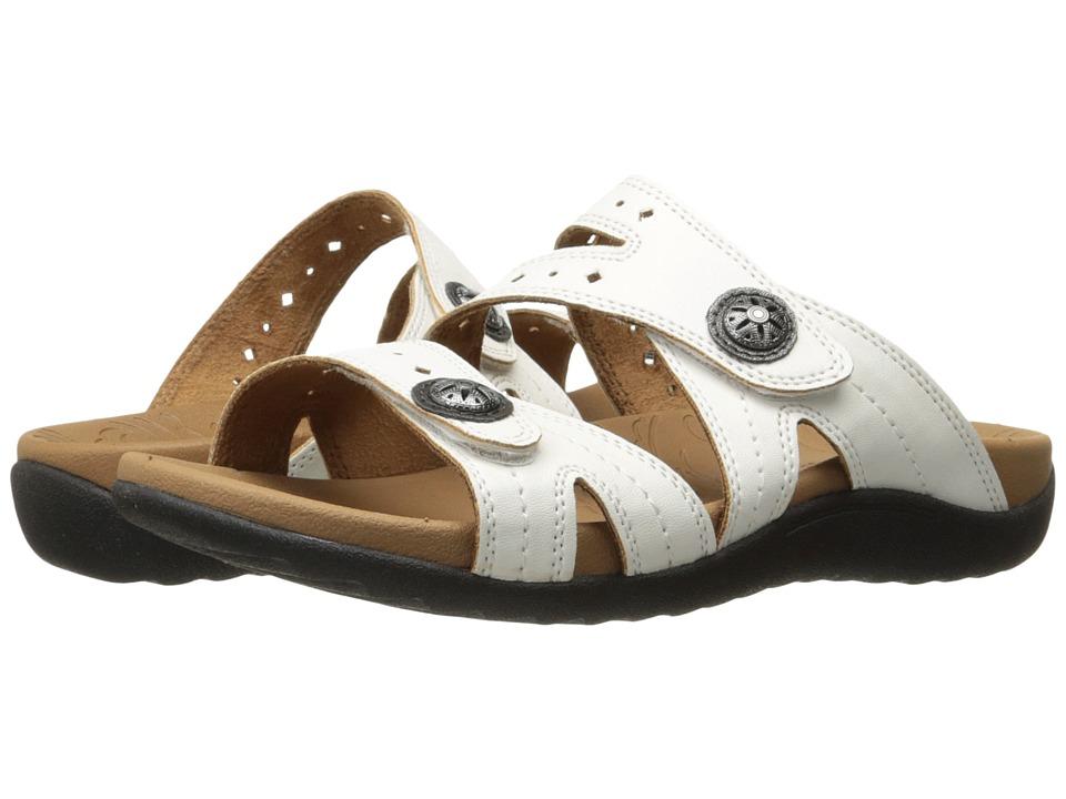 Rockport - Ridge Button Slide (White) Women's Shoes