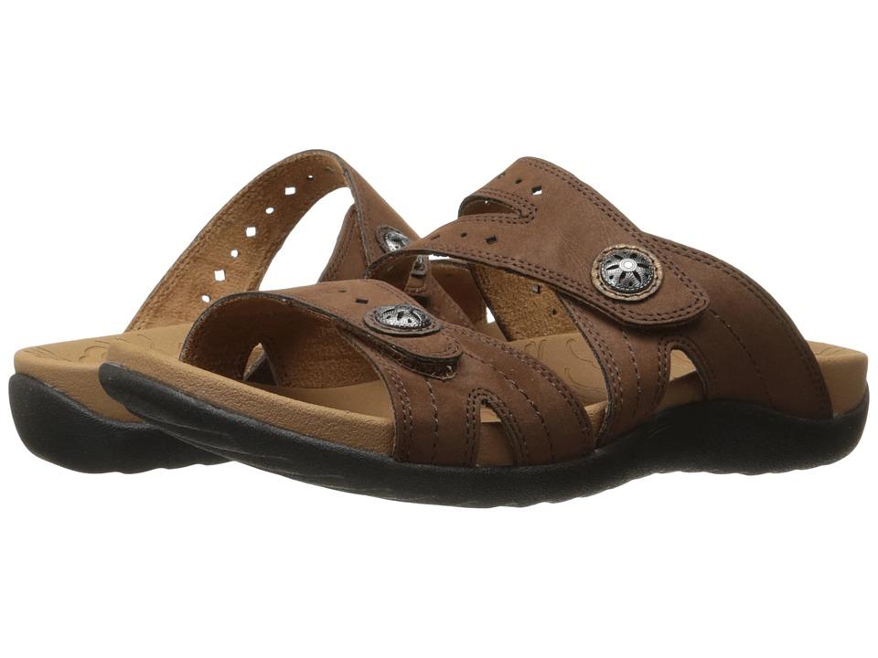 Rockport - Ridge Button Slide (Brown) Women's Shoes