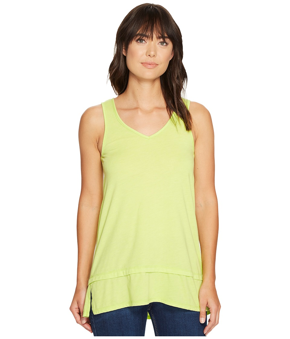 Mod-o-doc - Heather Jersey Banded Tank Top (Lime) Women's Sleeveless