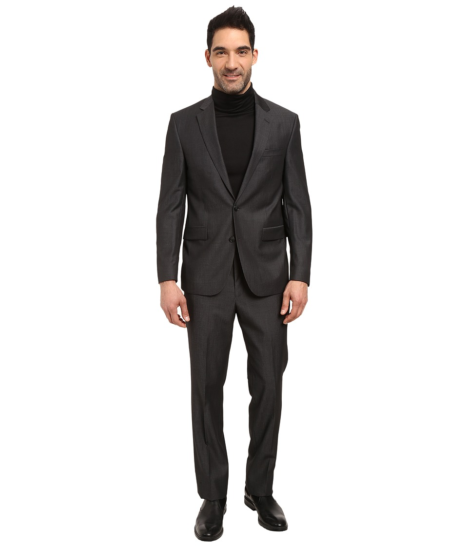 Kenneth Cole Reaction - Manhattan Suit (Grey Mini Check) Men's Suits Sets