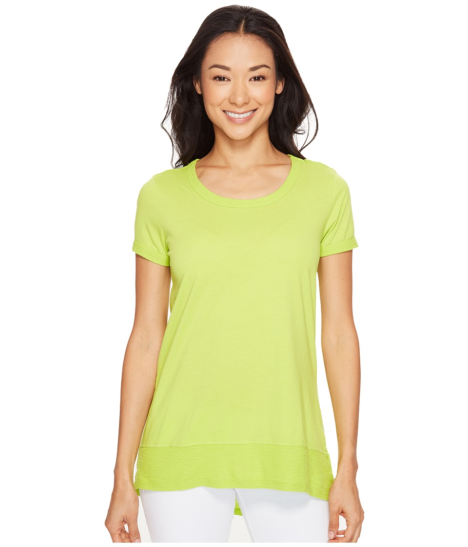 Mod-o-doc - Supreme Jersey Short Sleeve Hi-Low Hem Tee (Lime) Women's T Shirt