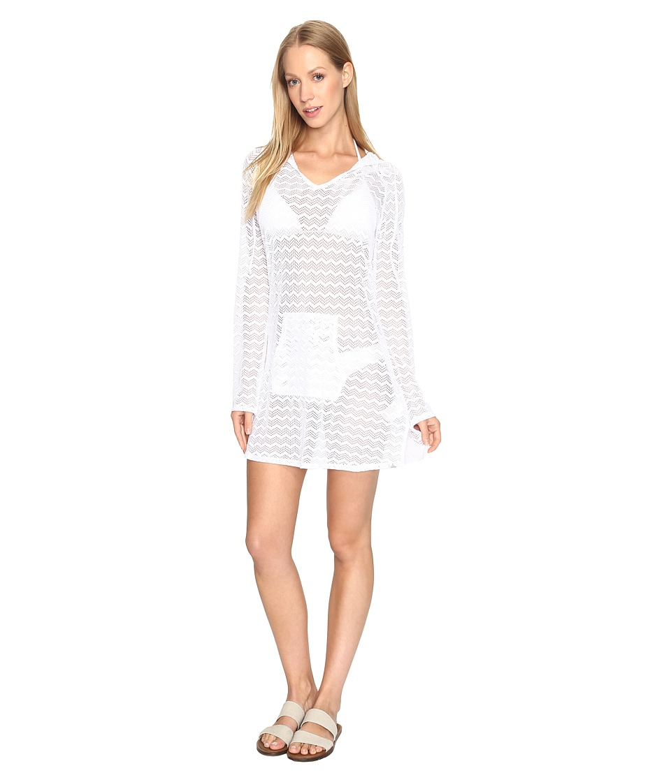 Prana - Luiza Tunic Cover Up (White Chevron) Women's Swimwear