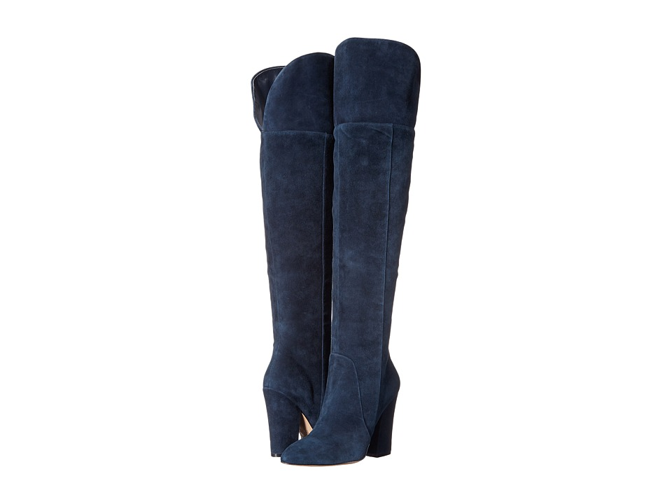 ALDO Leissa Navy Suede Dress Boots