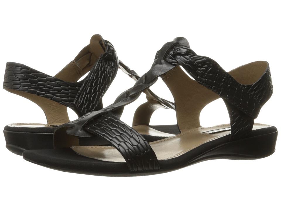 ECCO - Bouillion Knot T-Strap II (Black/Black) Women's Sandals