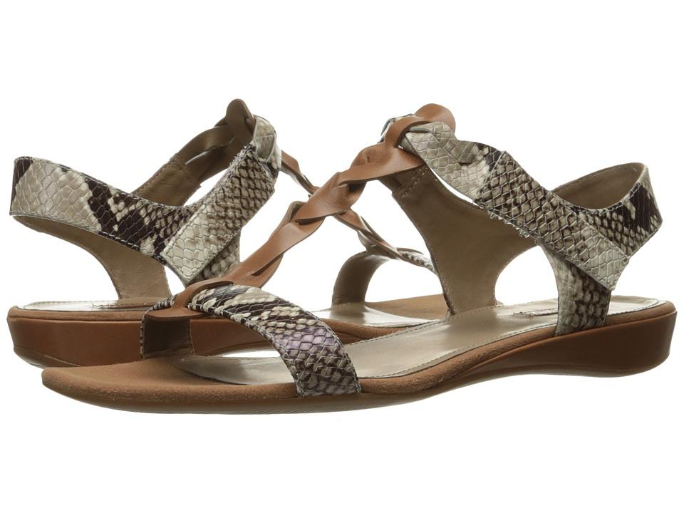 ECCO - Bouillion Knot T-Strap II (Cognac/Sage) Women's Sandals