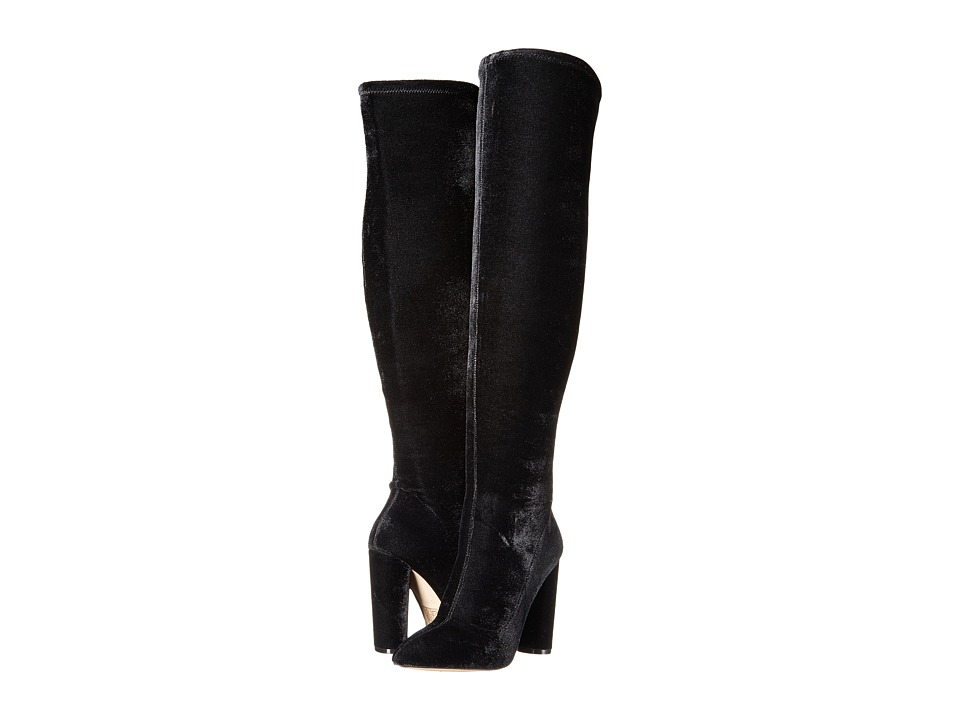 ALDO - Sylvana (Black Velvet) Women's Dress Boots