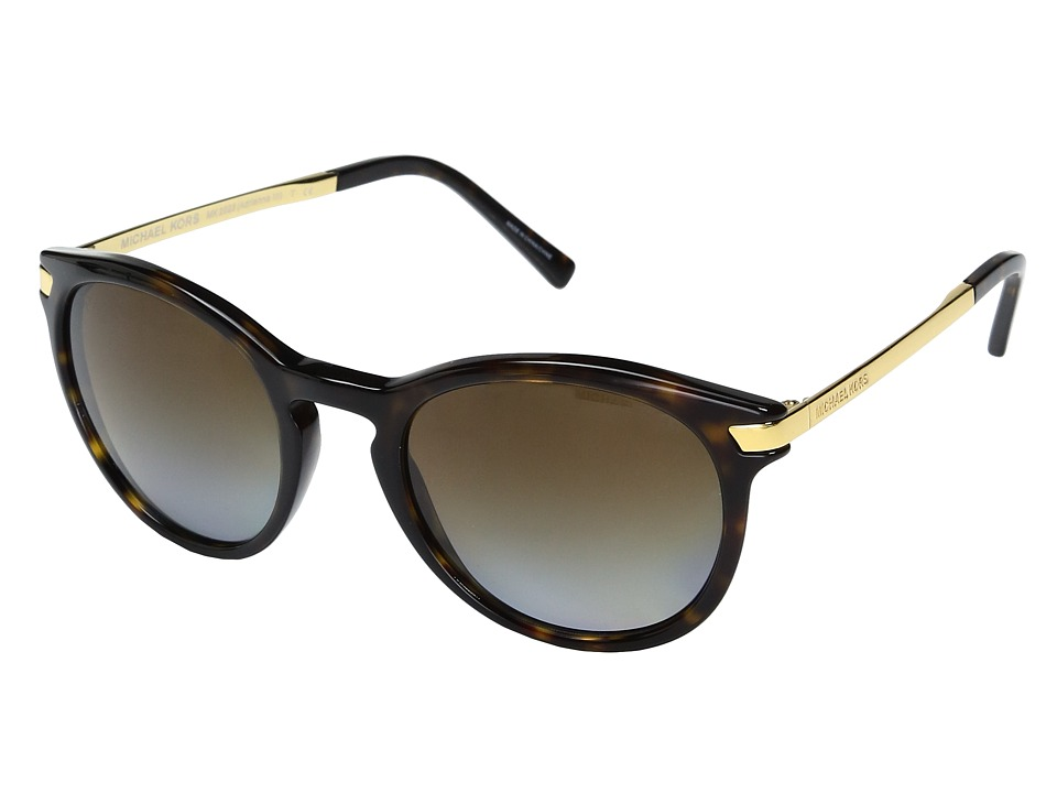 Michael Kors - Adrianna III (Dark Tortoise/Brown Gradient Polarized) Fashion Sunglasses