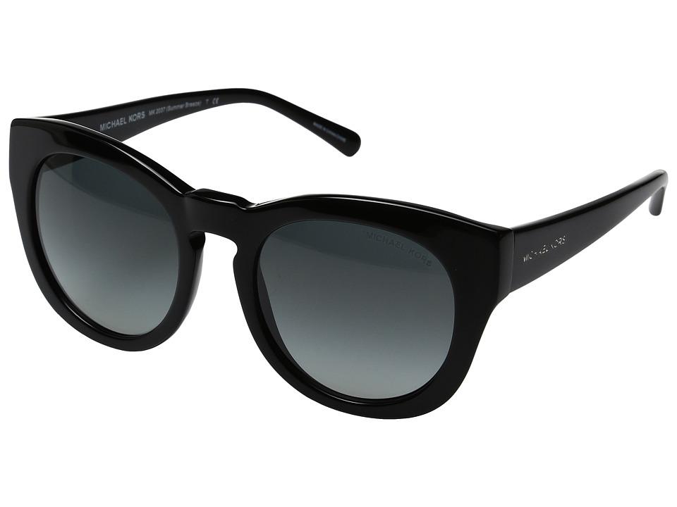 Michael Kors - Summer Breeze (Black/Dark Grey Gradient) Fashion Sunglasses