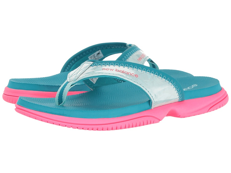 New Balance Kids - JoJo Thong (Little Kid/Big Kid) (Pink/Blue) Girls Shoes