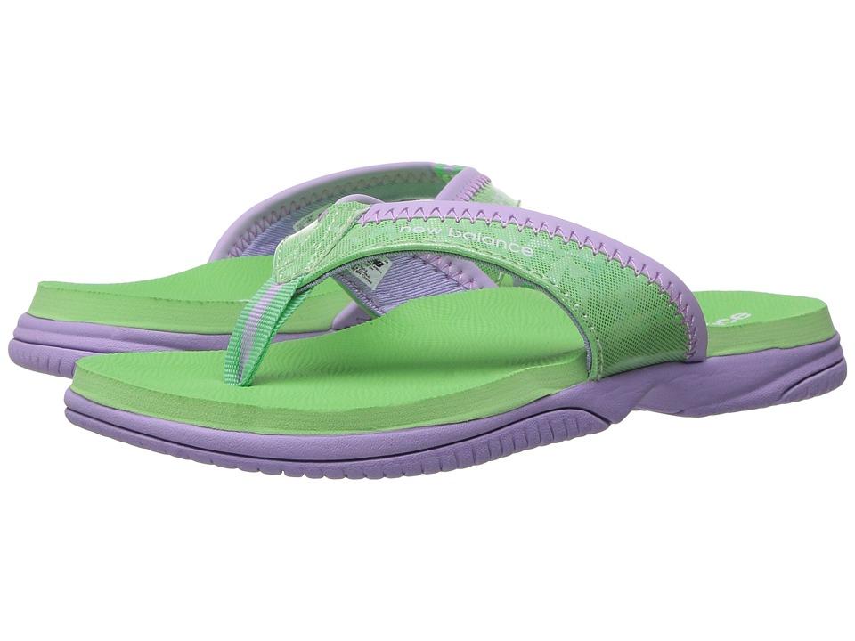 New Balance Kids JoJo Thong (Little Kid/Big Kid) (Violet/Mint) Girls Shoes