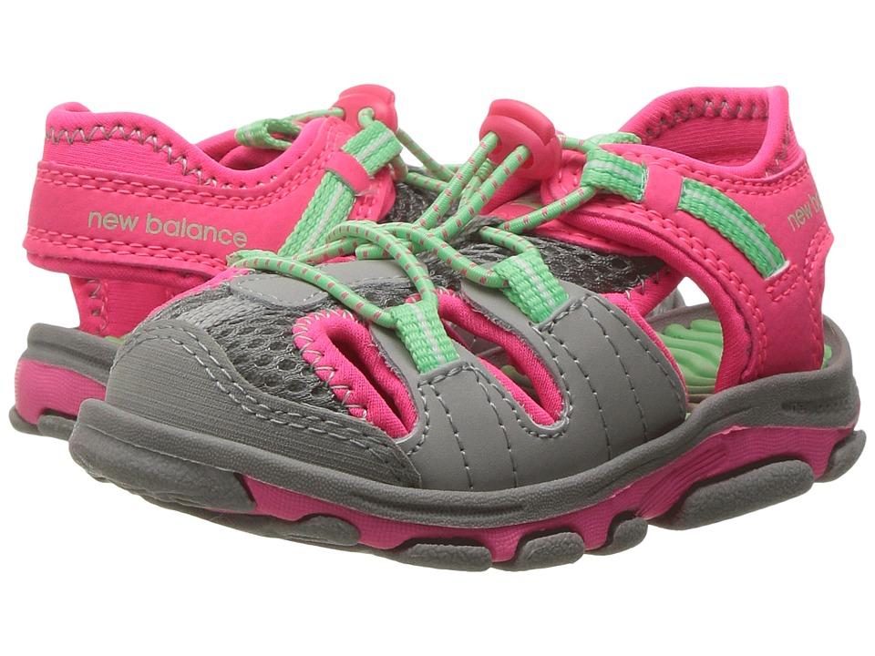New Balance Kids Adirondack Sandal (Toddler/Little Kid) (Grey/Pink) Girls Shoes