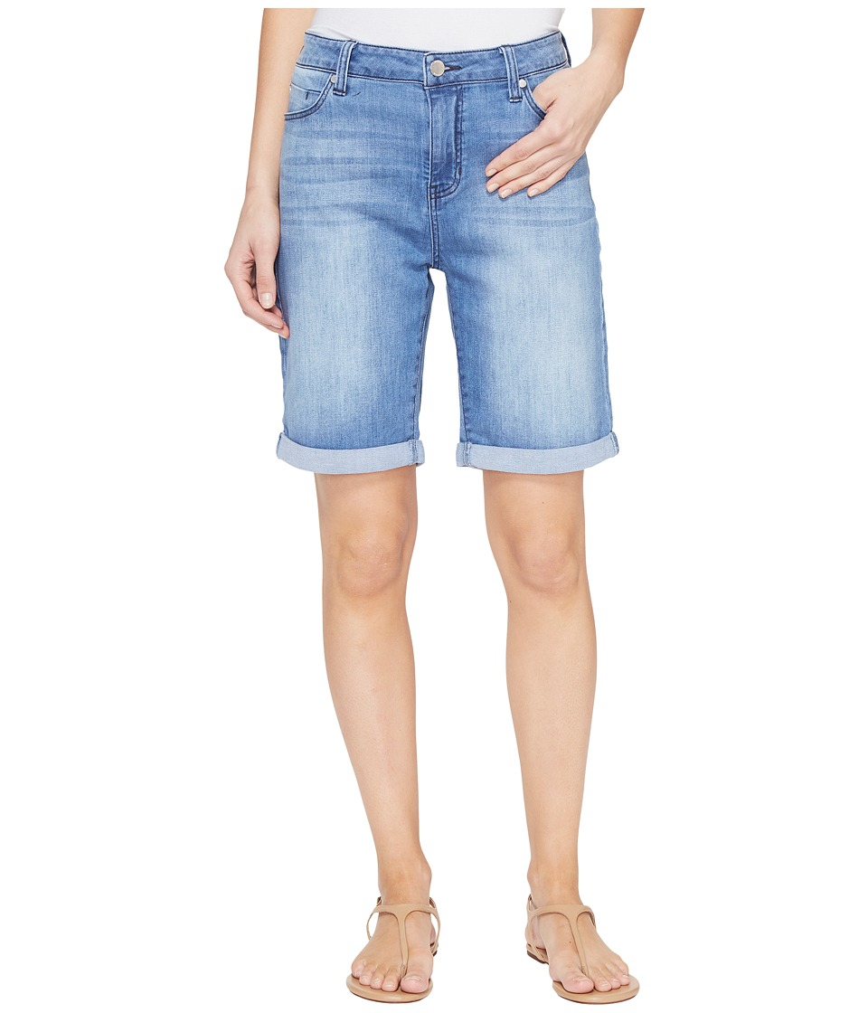 Liverpool - Hayden Rolled-Cuff Bermuda 11/9 Rolled in Devonshire Bleach/Indigo (Devonshire Bleach/Indigo) Women's Shorts