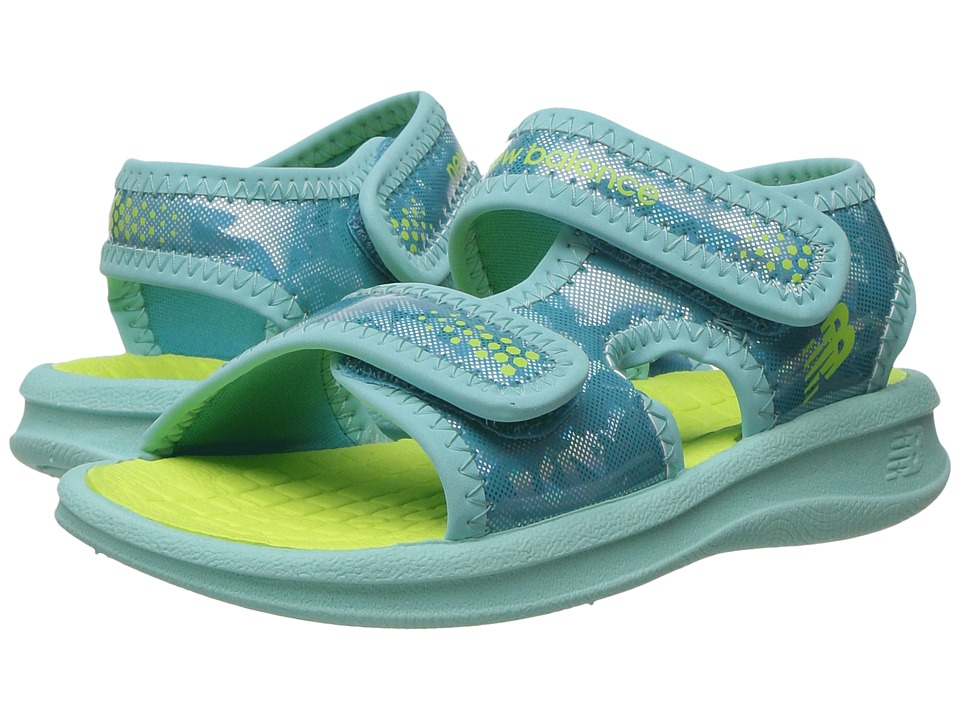 New Balance Kids - Sport Sandal (Toddler/Little Kid/Big Kid) (Blue/Lime) Girls Shoes
