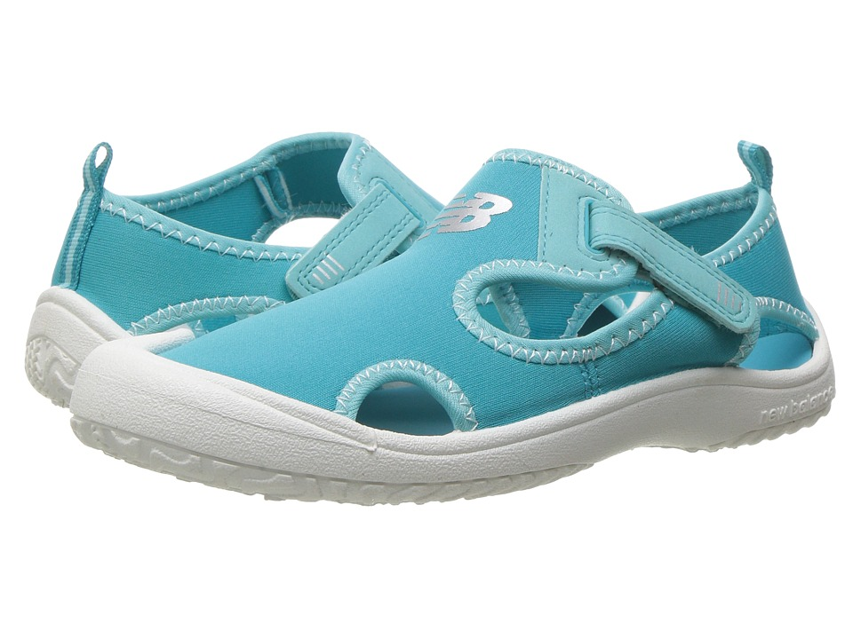 New Balance Kids - Cruiser Sandal (Toddler/Little Kid) (White/Coast Blue) Girls Shoes