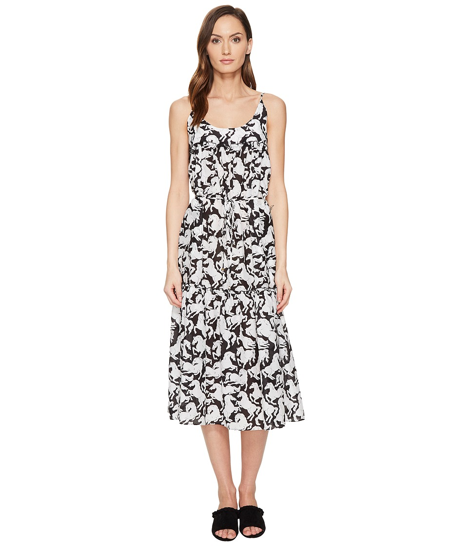 Stella McCartney Iconic Prints Maxi Dress (Black/White Horses Print) Women