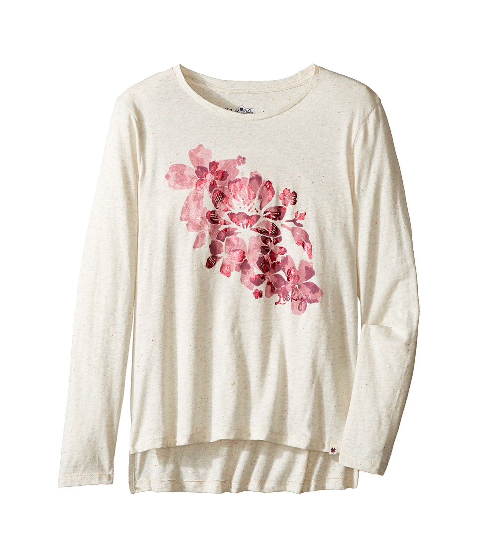 Lucky Brand Kids - Pullover Tee with Floral Screen Print (Big Kids) (Pristine) Girl's T Shirt