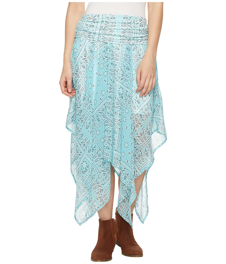 Tasha Polizzi Handkerchief Skirt (Blue) Women