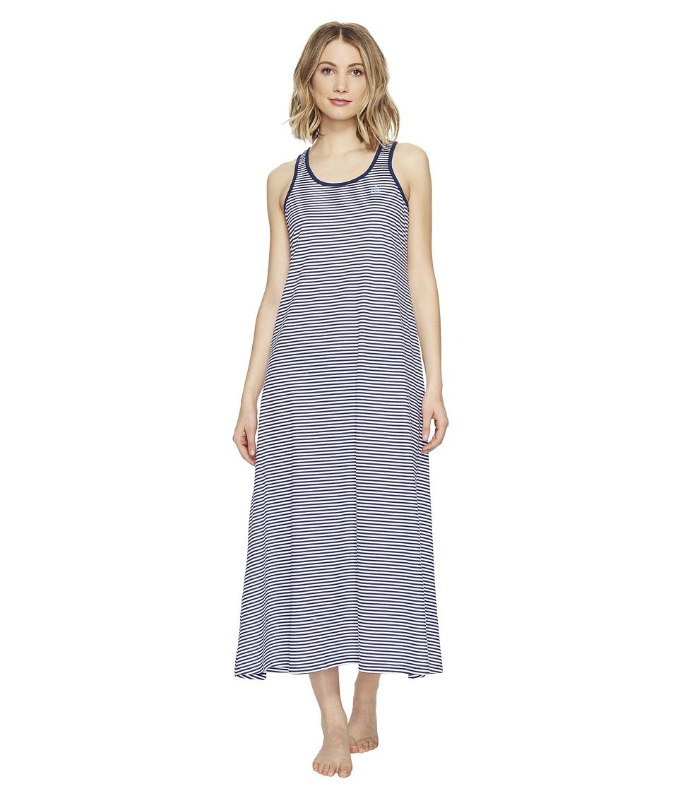 LAUREN Ralph Lauren - Maxi Gown (Spring Navy Stripe) Women's Pajama