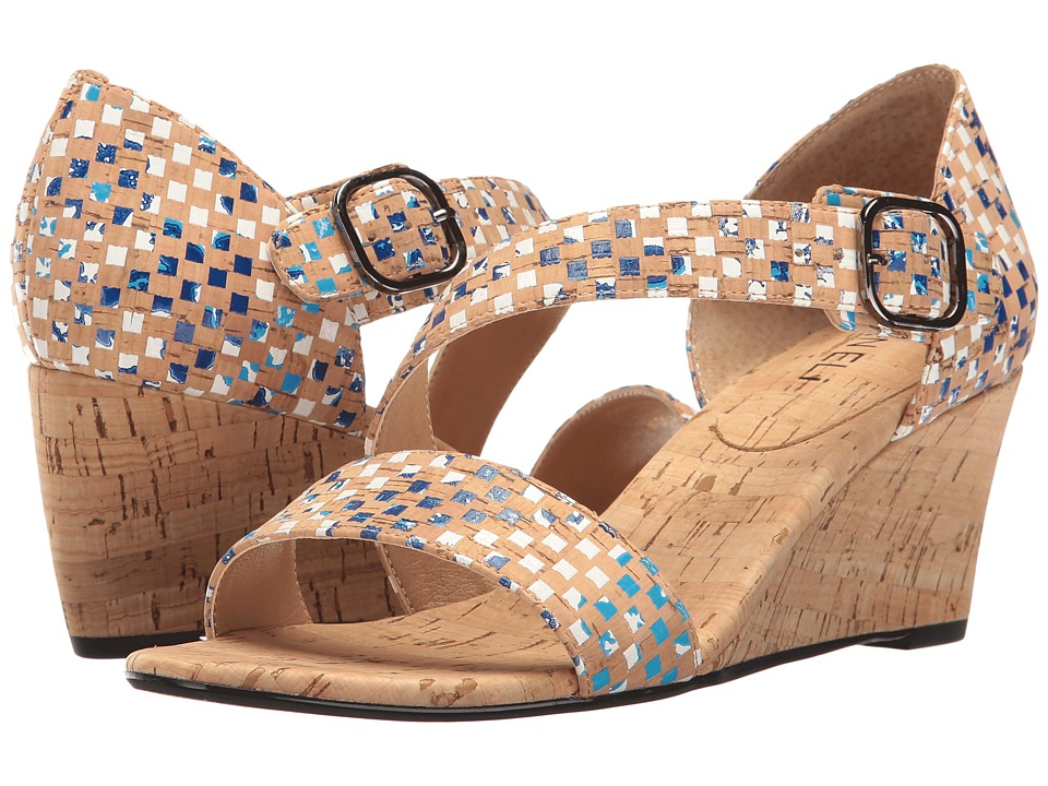 Vaneli - Marilyn (Multi Blue Spiral Cork) Women's Sandals