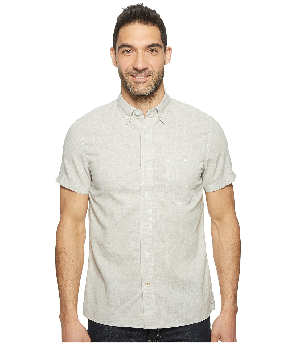 Timberland - Short Sleeve Mill River Cotton/Linen Chambray Shirt (Paloma Yarn-Dye) Men's Clothing